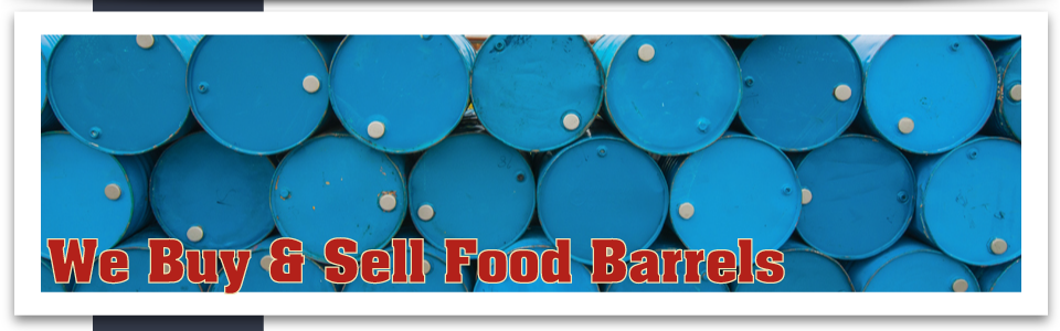 We Buy & Sell Food Barrels metal barrels