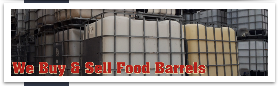 We Buy & Sell Food Barrels square containers