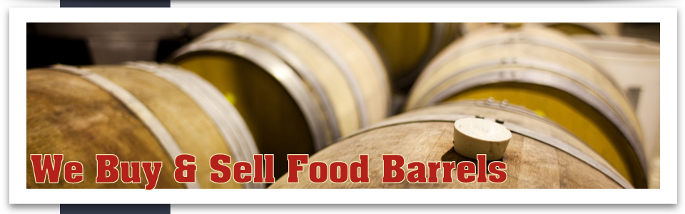 We Buy & Sell Food Barrels wooden barrels