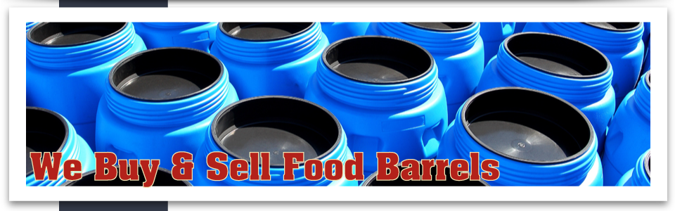 We Buy & Sell Food Barrels plastic barrels